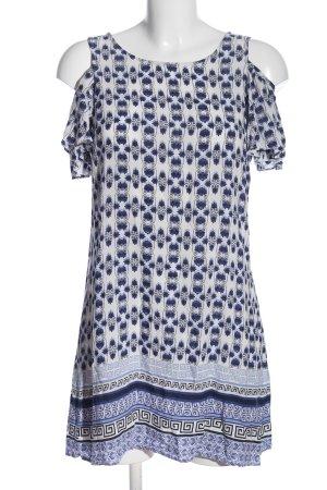 red london Blusenkleid weiß-blau Allover-Druck Casual-Look