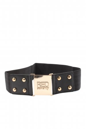 red seventy Belt Buckle black-gold-colored casual look
