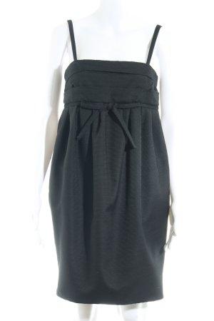 RED Valentino A-Linien Kleid schwarz Streifenmuster klassischer Stil