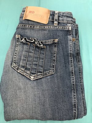 RED Valentino Straight Leg Jeans blue