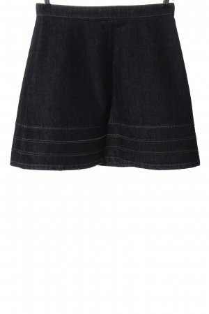 RED Valentino Denim Skirt blue flecked casual look