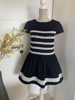 RED Valentino Midi Dress black-white
