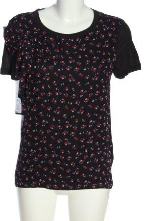 RED Valentino Kurzarm-Bluse Motivdruck Casual-Look