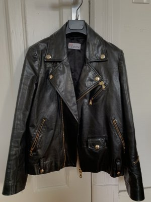 RED Valentino Leather Jacket black