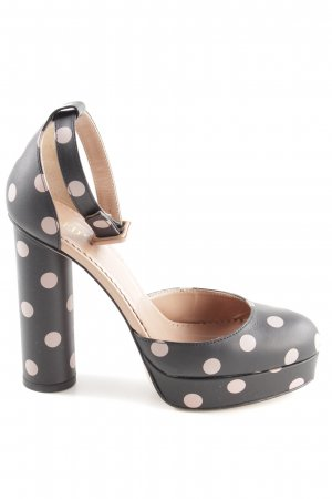 RED Valentino Platform Pumps black-pink spot pattern casual look