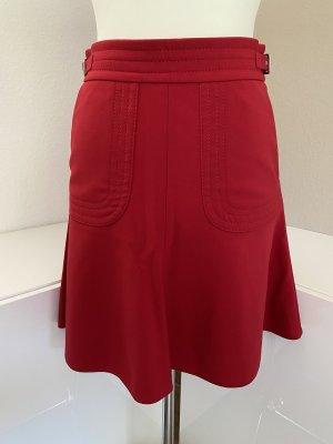 RED Valentino Midi Skirt red-dark red