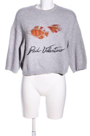 RED Valentino Rundhalspullover Motivdruck Casual-Look