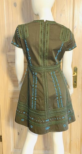 RED Valentino Summer Dress green grey-turquoise cotton