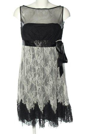 RED Valentino Spitzenkleid schwarz-wollweiß Elegant