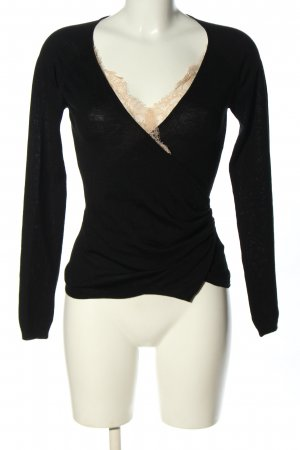 RED Valentino Knitted Wrap Cardigan black-nude casual look