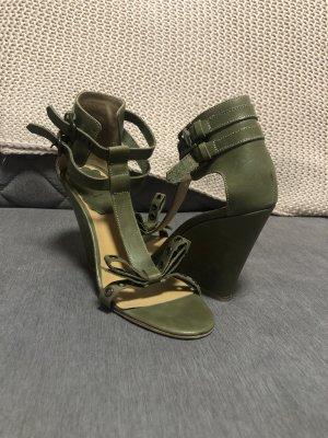 RED Valentino Wedge Sandals khaki