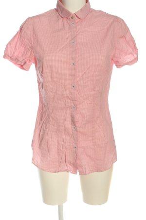 Redford Camisa de manga corta rosa-blanco estampado a cuadros look casual