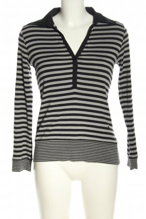 redgreen Longsleeve light grey-black striped pattern casual look