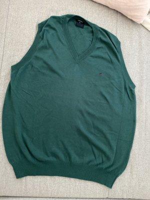 redgreen Sweter bez rękawów z cienkiej dzianiny petrol