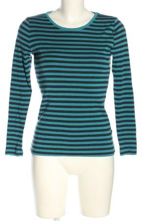 redgreen Rundhalspullover blau-schwarz Streifenmuster Casual-Look
