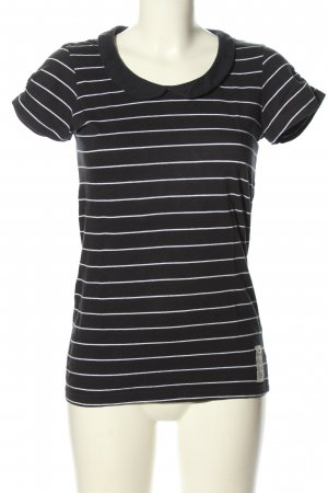 redgreen T-Shirt black-white striped pattern casual look