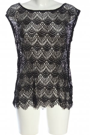REDHERRING Blusa de encaje negro look casual