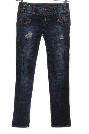 Redial Jeans taille basse bleu style décontracté