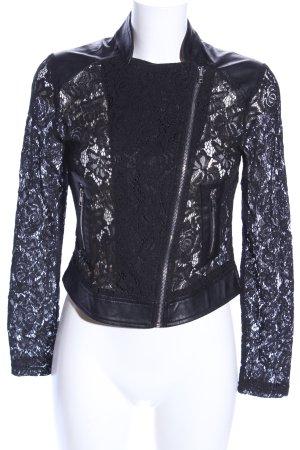 Redial Chaqueta de cuero de imitación negro elegante