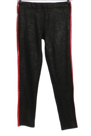 Redial Leggings schwarz-rot Casual-Look