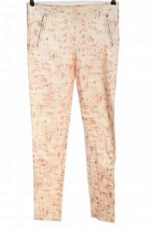 Redial Stoffhose creme-nude abstraktes Muster Casual-Look
