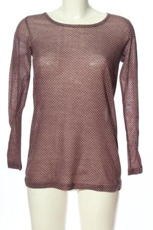 Redsoul Langarm-Bluse lila-wollweiß meliert Casual-Look