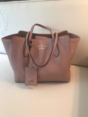 Gucci Swing Tasche aus mauve rosa Leder
