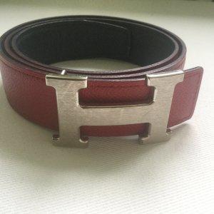 REDUZIERT BIS MONTAG! Hermès H Belt Wendegürtel rot blau