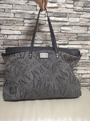 --Reduziert--Original Armani Shopper Tasche grau geräumig viel Platz