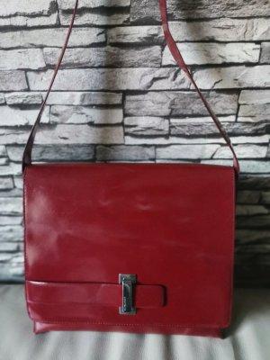 --Reduziert--Original Coccinelle Lack Leder Tasche rot Vintage
