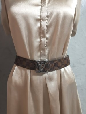 Louis Vuitton Leather Belt light brown-brown
