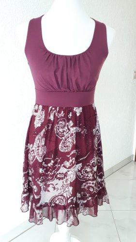 Reduziert%%%schönes Kleid,bordeaux,Gr.S/XS