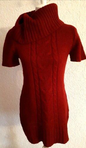 Reduziert %%% schönes Pullover-Kleid,rot,Kragen,S, 36/38