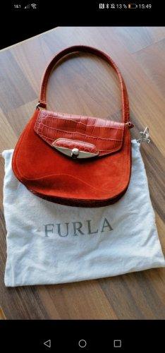 reduziert tolle vintage Leder tasche rostrot wintertrend Farbe