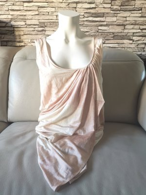--Reduziert--Wunderschönes Original Christian Dior Seiden Kleid nude Gr 36 S asymmetrisch Rückenfrei