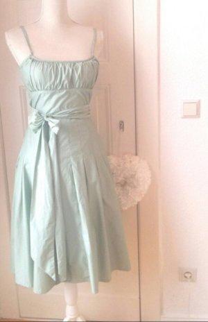 --Reduziert--Wunderschönes Sommer Kleid Türkis Gr S 34-36 mit einer Schleife verziert
