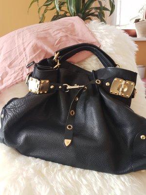 *Reduzierung* MIU MIU Hirschledertasche in schwarz mit goldenen Details