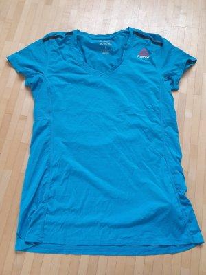 Reebok Sportshirt neon blauw-zwart