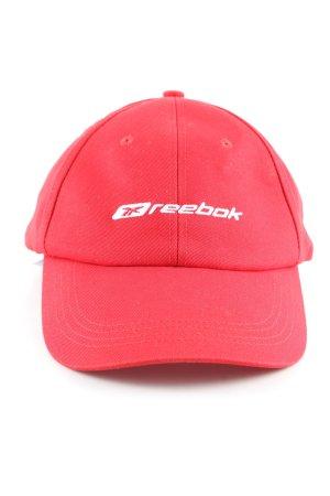 Reebok Berretto da baseball rosso caratteri ricamati stile casual