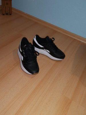 Reebok Zapatillas con tacón negro-blanco