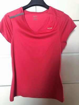 Reebok T-shirt de sport rouge framboise polyester
