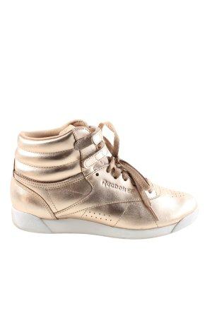 Reebok High Top Sneaker goldfarben Casual-Look