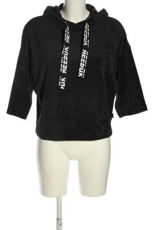 Reebok Kapuzenpullover schwarz-weiß Casual-Look