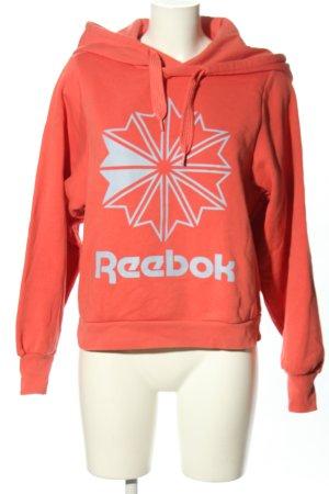 Reebok Kapuzensweatshirt rot Motivdruck Casual-Look