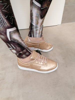 Reebok Leder Sneaker Gold 37.5