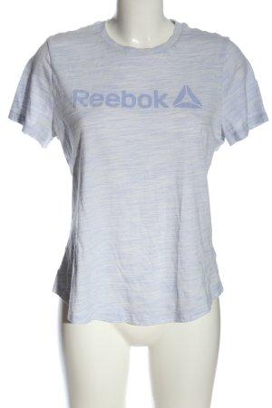 Reebok Camiseta estampada azul moteado look casual