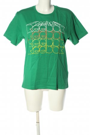 Reebok Print-Shirt grün Motivdruck Casual-Look