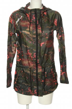 Reebok Kapuzenjacke khaki-pink Camouflagemuster Casual-Look