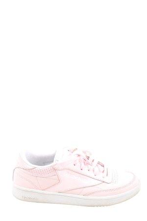 Reebok Schnürsneaker pink-weiß Motivdruck Casual-Look