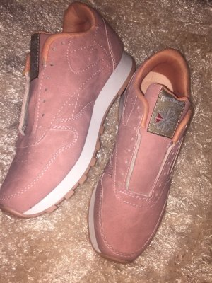 Reebok Chaussures à lacets or rose-vieux rose